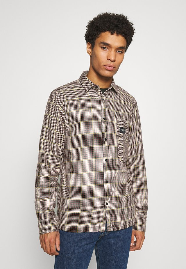 GENTLEMAN'S CHECK - Camisa - dark brown