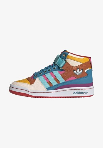 FORUM MID ORIGINALS SNEAKERS SHOES - Sneakers hoog - pulse aqua/pink tint/sonic fuchsia