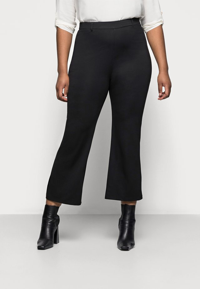 Flared PUNTO trousers - Kangashousut - black