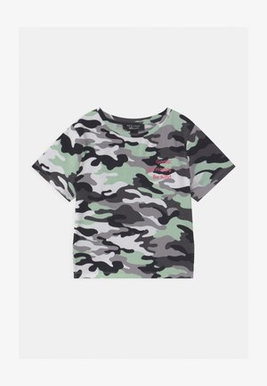 CAMO LATTICE SIDE - T-shirt med print - khaki