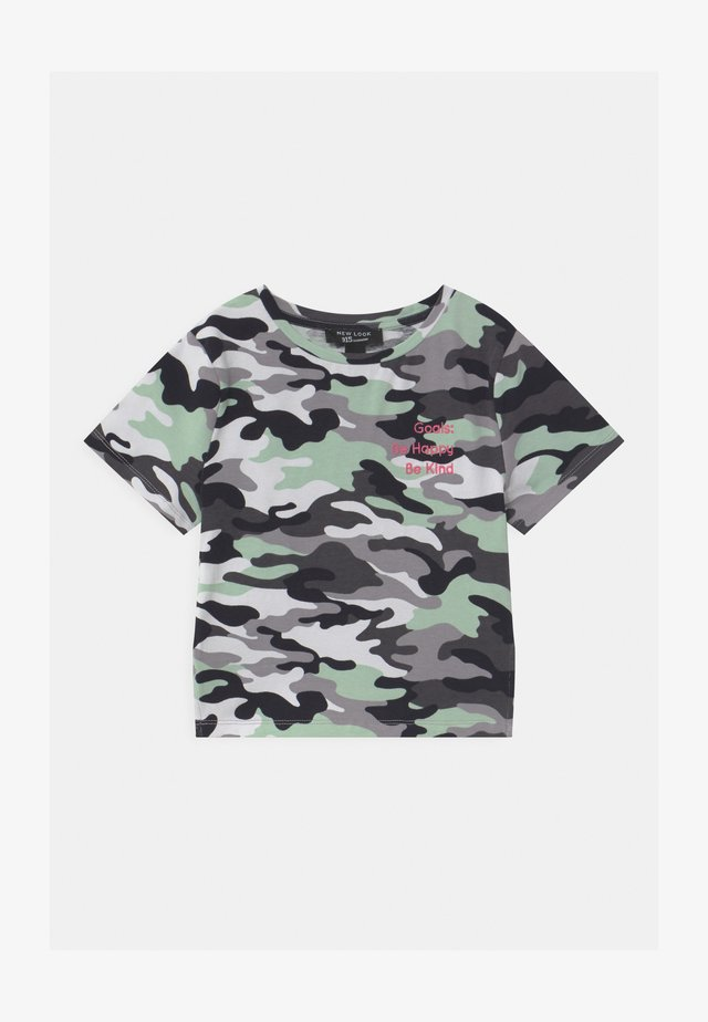 CAMO LATTICE SIDE - T-shirt print - khaki