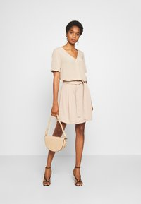 Vila - VIVERO SHORT SKIRT - A-line skirt - beige - 1