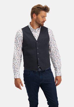 Waistcoat - dark-blue plain