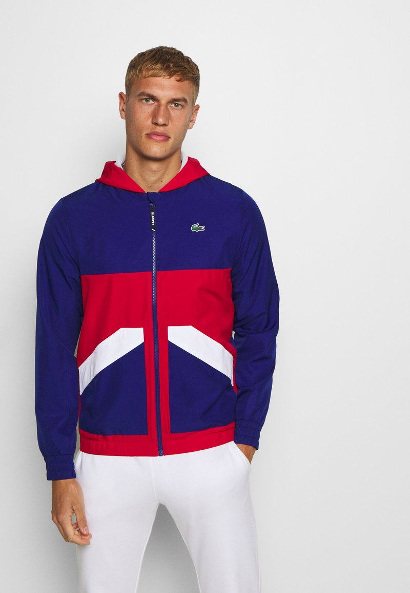Lacoste Sport - TENNIS JACKET - Training jacket - cosmic/red/white
