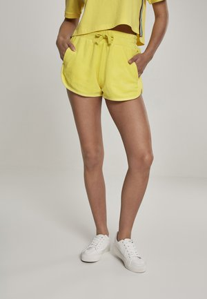 LADIES TOWEL HOT PANTS - Tracksuit bottoms - brightyellow