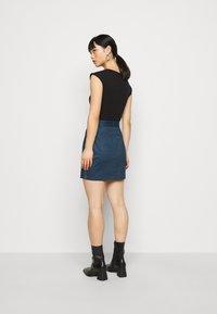 Even&Odd Petite - Pouzdrová sukně - dark denim - 2