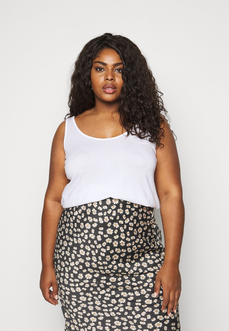 New Look Curves - CROSS BACK  - Top - white