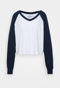 Hollister Co. - SPORTY BASEBALL - Long sleeved top - white/navy - 3