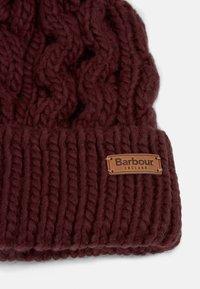 Barbour - PENSHAW CABLE BEANIE - Beanie - bordeaux - 3