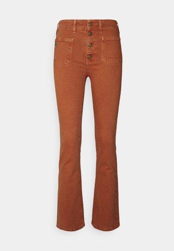 GAUCHO - Jean flare - orange rust