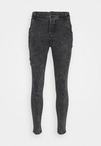 SIKSILK - SKINNY FIT ACID WASH WITH DISTRESSING - Jeans Skinny Fit - black - 4