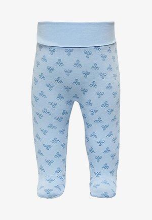 HMLBABY BEE PANTS - Leggings - Trousers - blue fog