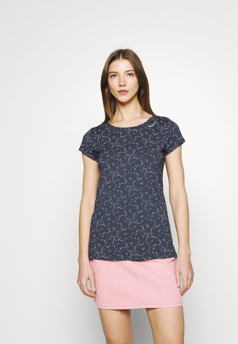 Ragwear - MINT ORGANIC - Print T-shirt - navy