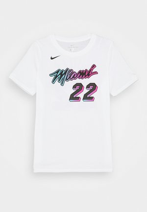 NBA CITY EDITION JIMMY BUTLER MIAMI HEAT NAME NUMER TEE UNISEX - Triko s potiskem - white