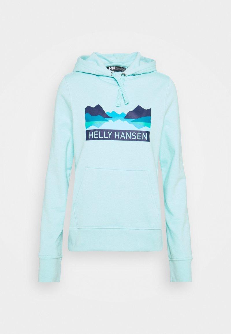 Helly Hansen - NORD GRAPHIC HOODIE - Hoodie - glacier blue
