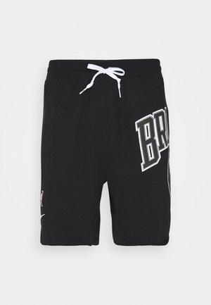 NBA BROOKLYN NETS SHORT - Sports shorts - black/white