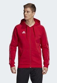 adidas Performance - CORE 19 HOODIE - Huvtröja med dragkedja - red - 0