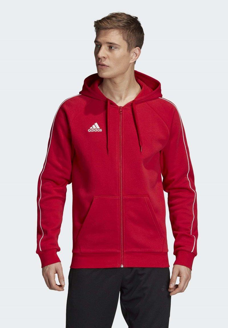 adidas Performance - CORE 19 HOODIE - Huvtröja med dragkedja - red