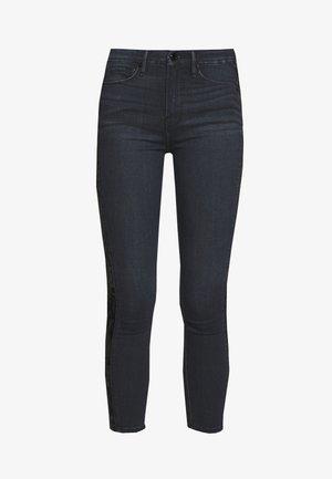 GOOD WAIST CROP CRUSHED VELVET TUXEDO - Skinny džíny - blue