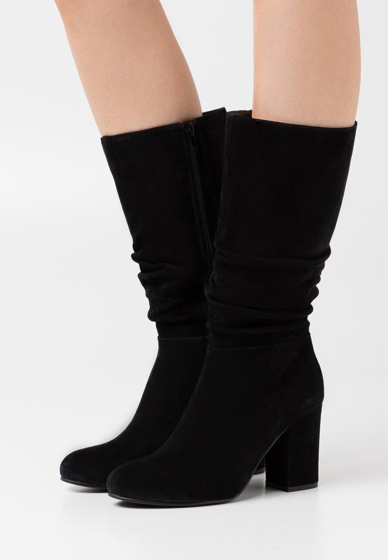 Steven New York - MELODY - Vysoká obuv - black