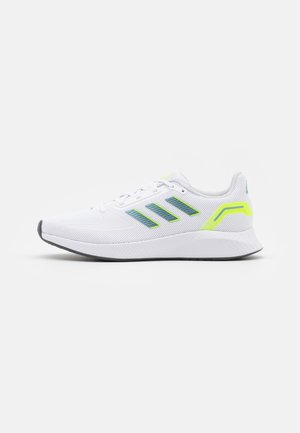 RUNFALCON 2.0 - Neutrální běžecké boty - footwear white/vision metallic/signal green