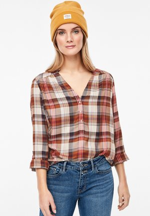 Blouse - brown/red
