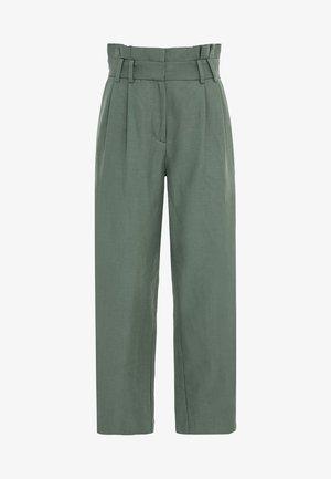 PAPERBAG - Trousers - seegrün