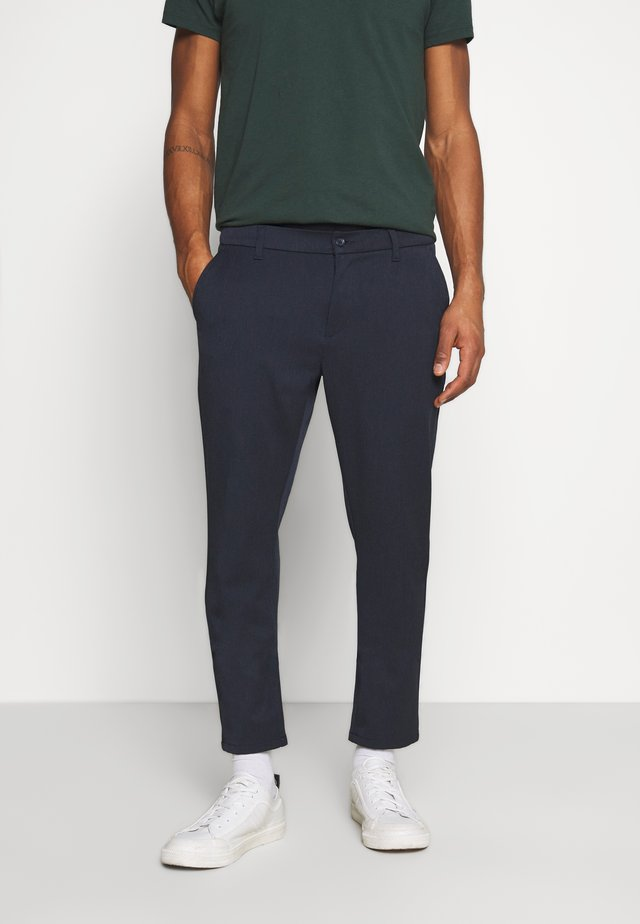 STEFFEN PANT - Pantaloni - navy melange