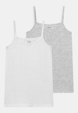 TEEN 2 PACK - Top - light grey melange