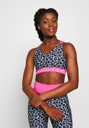 DECO BRA - Reggiseno sportivo - black/white/pink