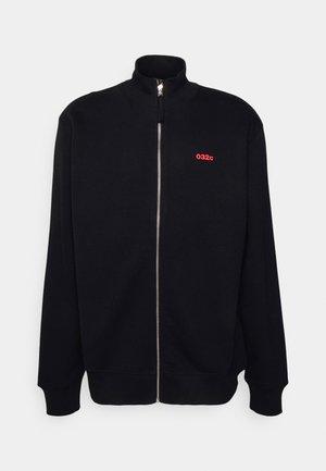BACKSTAGE ZIP UP MOCK NECK UNISEX - Zip-up sweatshirt - black