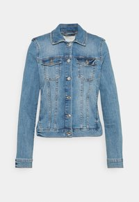 TOM TAILOR DENIM - EASY JACKET - Denim jacket - used light stone blue denim - 0