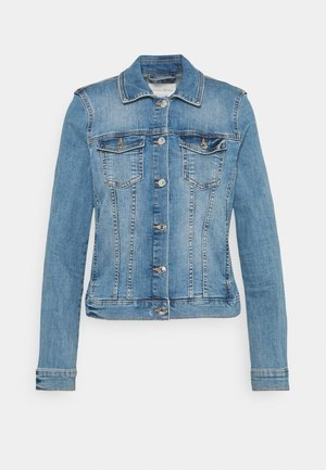 EASY JACKET - Denim jacket - used light stone blue denim