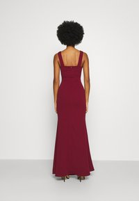 WAL G. - SLEEVELESS V NECK DRESS WITH SIDES - Occasion wear - wine - 2