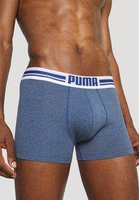 Puma - PLACED LOGO BOXER 2 PACK - Culotte - denim - 4