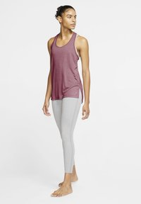 Nike Performance - YOGA LAYER TANK - Sports shirt - desert berry - 1