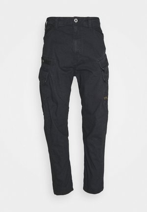 DRONER RELAXED TAPERED CARGO PANT - Cargobyxor - compact bitt canvas rfd - sartho blue wave dyed