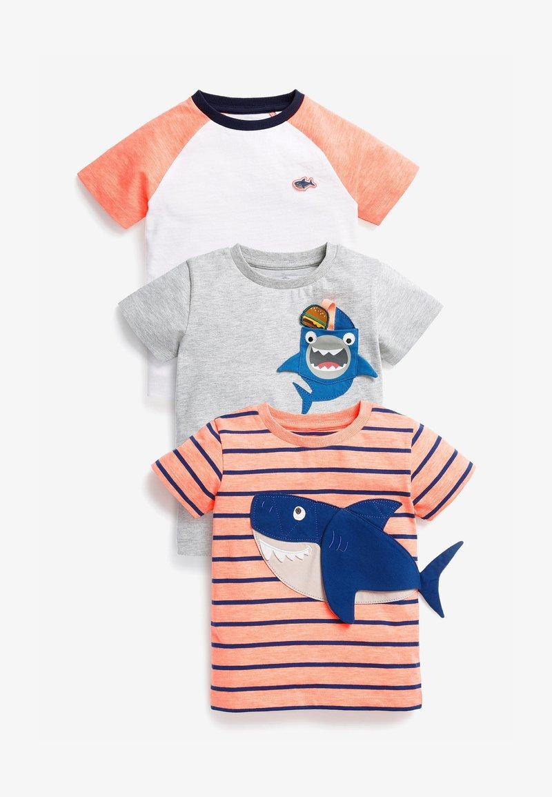 Next - 3 PACK  - T-shirt print - pink