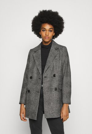 EMMA CHECK COAT - Short coat - grey