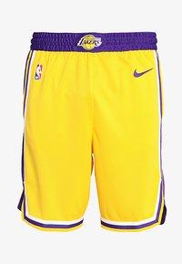 Nike Performance - LA LAKERS NBA SWINGMAN SHORT - Sports shorts - amarillo/field purple/white - 4