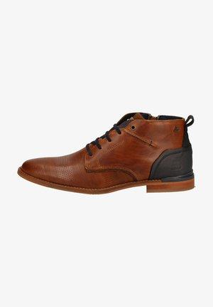 Lace-up ankle boots - cognac p6cn