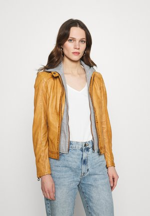 ABBY - Leather jacket - camel