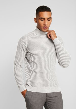 Strikkegenser - 111 - mottled light grey