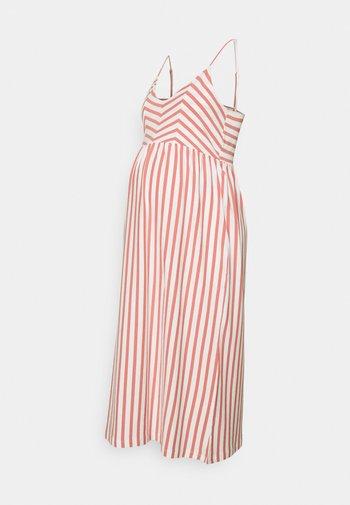 MLAISA MIDI DRESS - Sukienka z dżerseju - desert sand/white