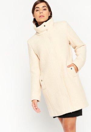 LONG WITH HIGH-NECK - Short coat - ecru