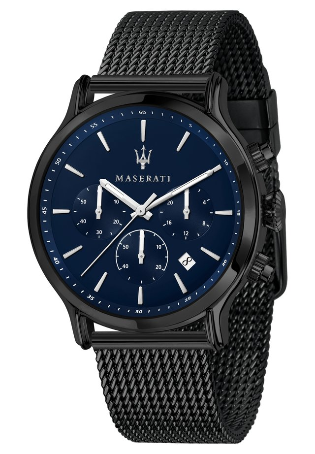 Chronograph watch - anthracite, blue