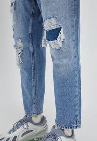 PULL&BEAR - Jeans relaxed fit - mottled dark blue - 4