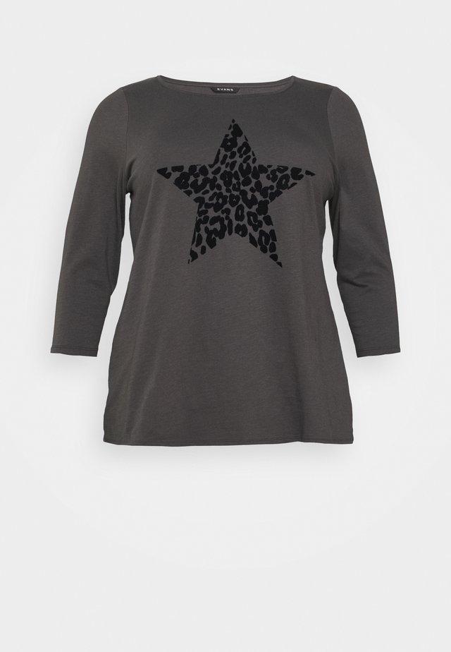 ANIMAL TEE - T-shirt à manches longues - grey