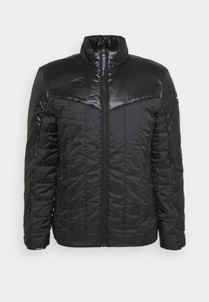 MULTI QUILT WADDED JACKET - Jas - black
