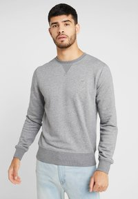 GANT - THE ORIGINAL C NECK  - Sweatshirt - dark grey melange - 0
